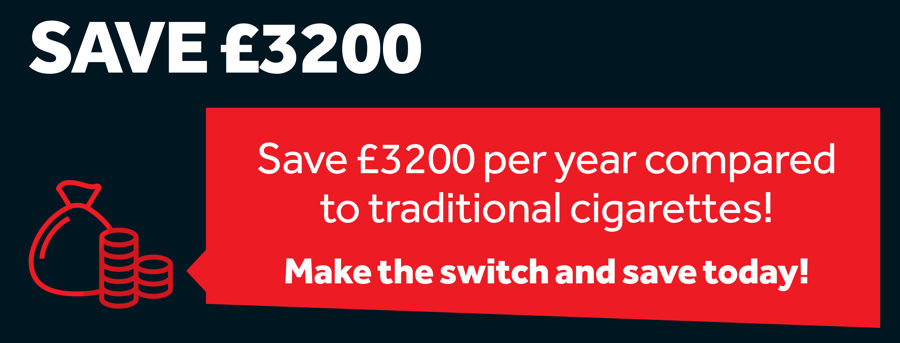 Save £3200 switching from smoking to vaping