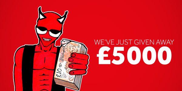 £5000 cash giveaway