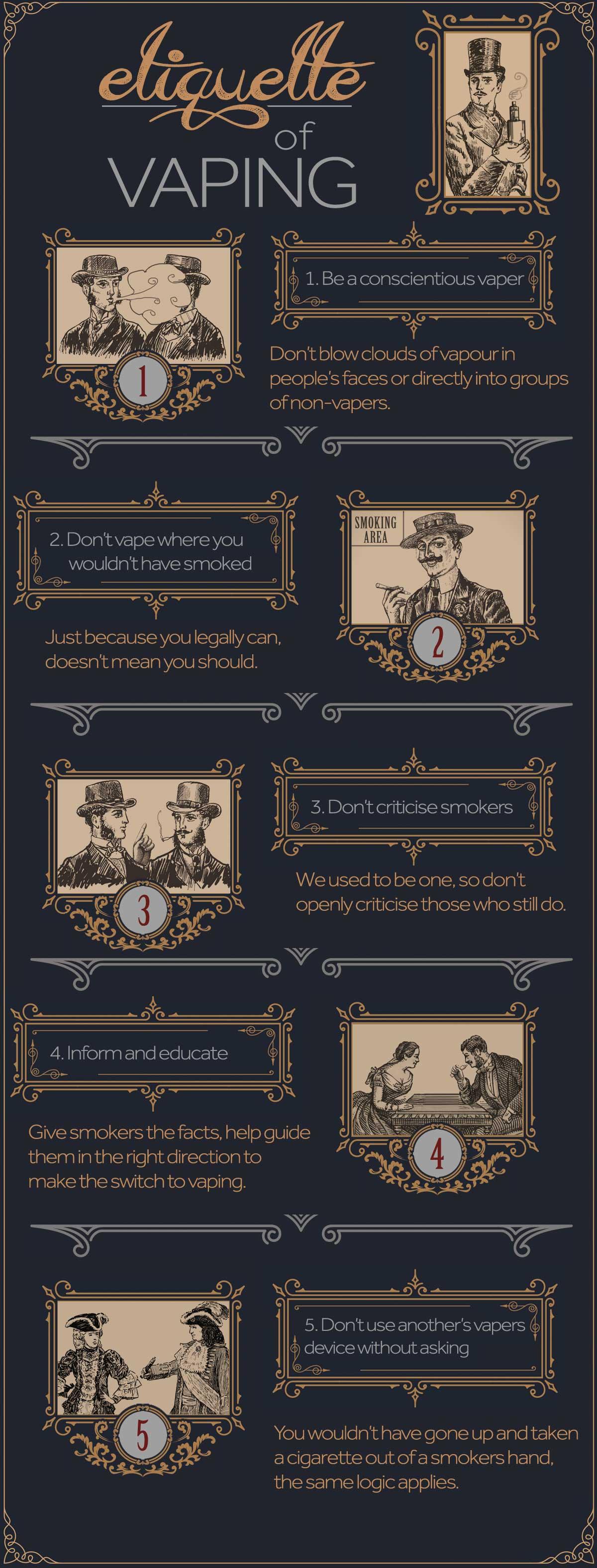 Vaping etiquette infographic