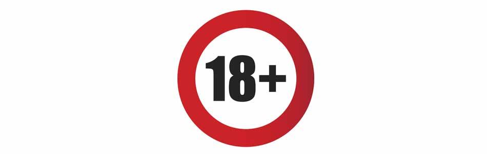 18 plus banner
