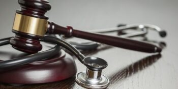 gavel and stethescope