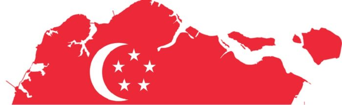 Singapore map flag