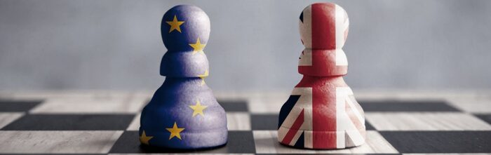 Brexit chess concept