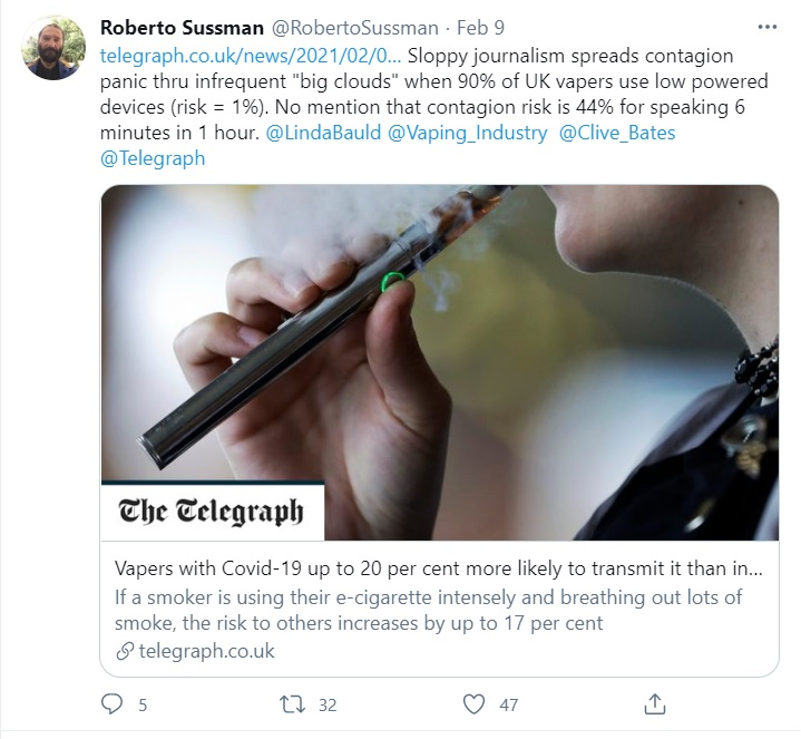 anti-vaping Covid-19 article