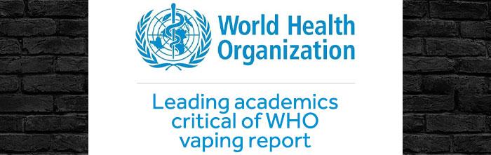 Leading academics condemn WHO