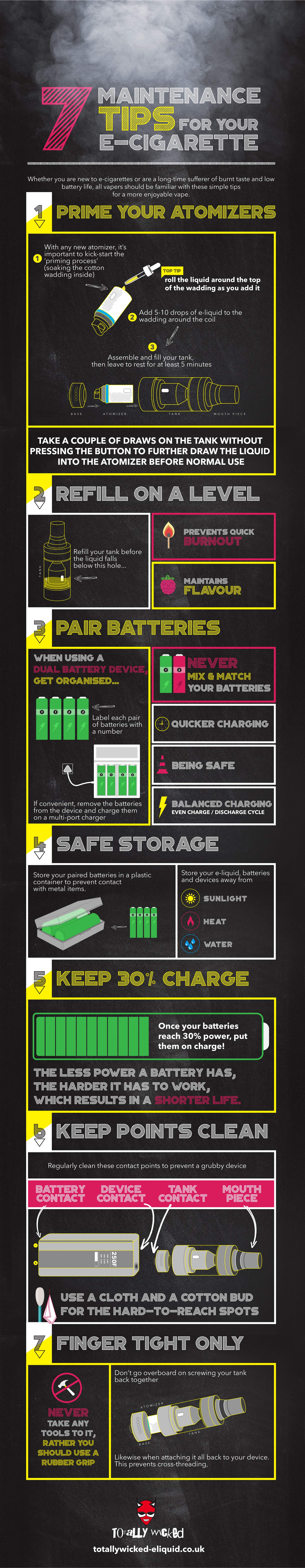 7-maintenance-tips-for-your-e-cigarette-infographic