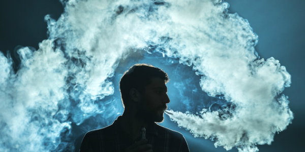 Image of man vaping