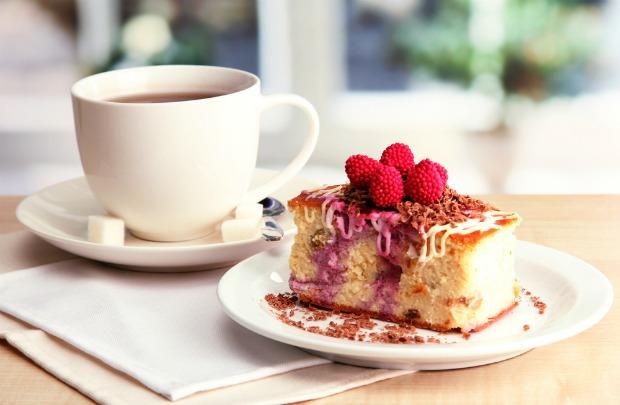 Image of tea and cake