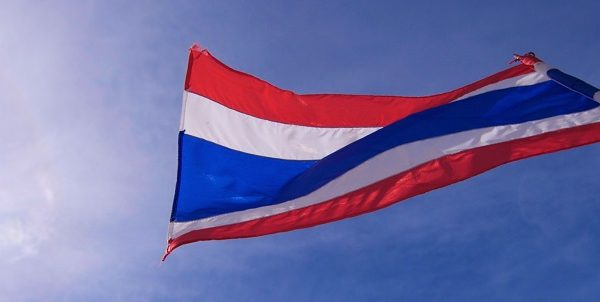Thai flag with Blue Sky