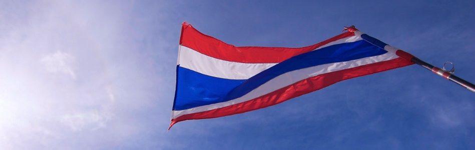 Thai flag with Blue Sky