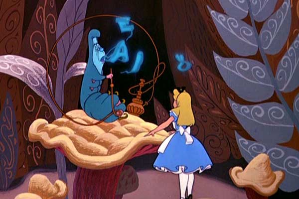 Alice in Wonderland smoking