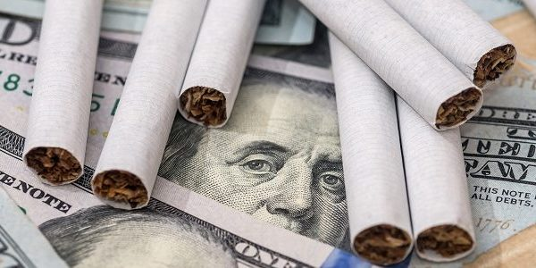 money and cigarettes