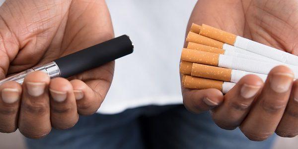 e-cigarette or cigarettes