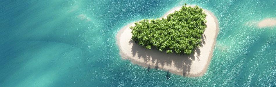 love heart shaped island