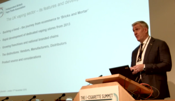 Fraser Cropper e-cig summit