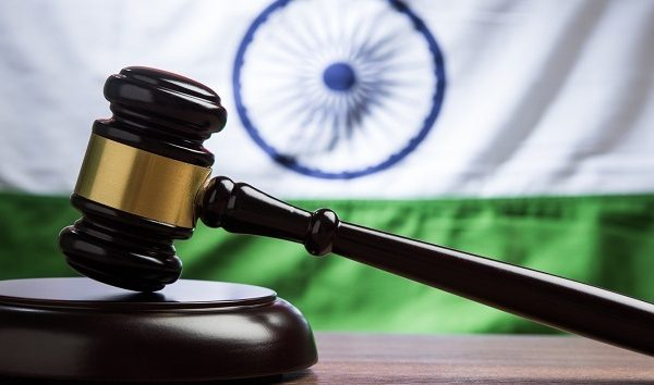 India flag and gavel