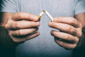 Man snapping cigarette