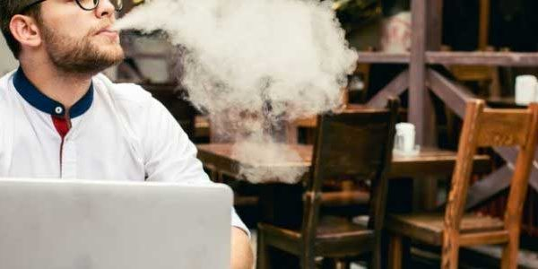 Vaping at desk