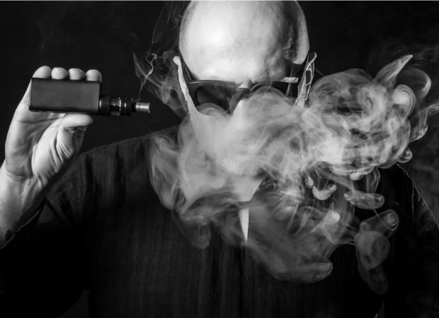 Man with e-cig