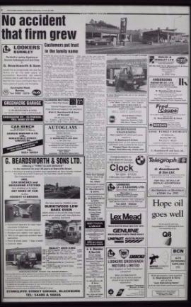 Newspaper Article Beardsworth Garage