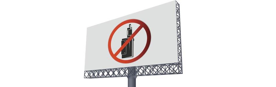 E-cig ban billboard