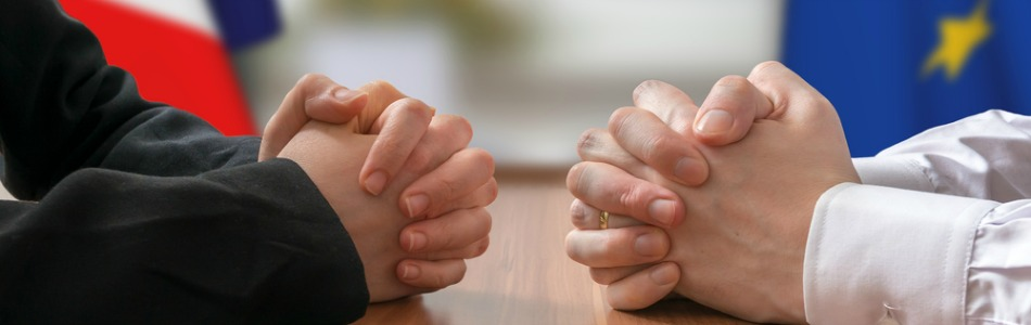 Politicians having a meeting close up of hands