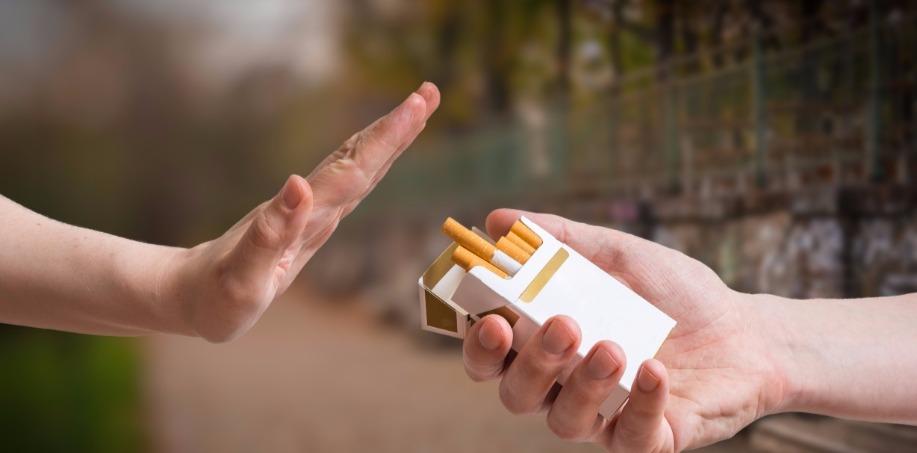 Person Rejecting Cigarette
