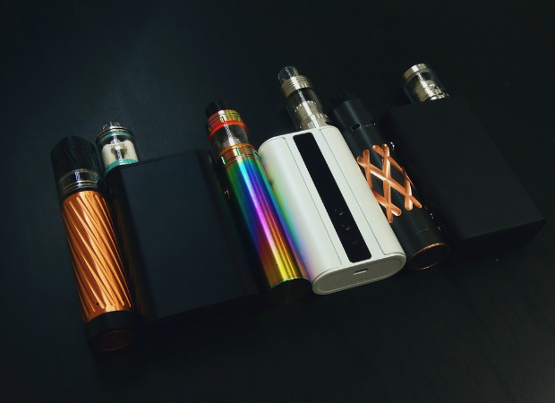 Row of different e-cigs