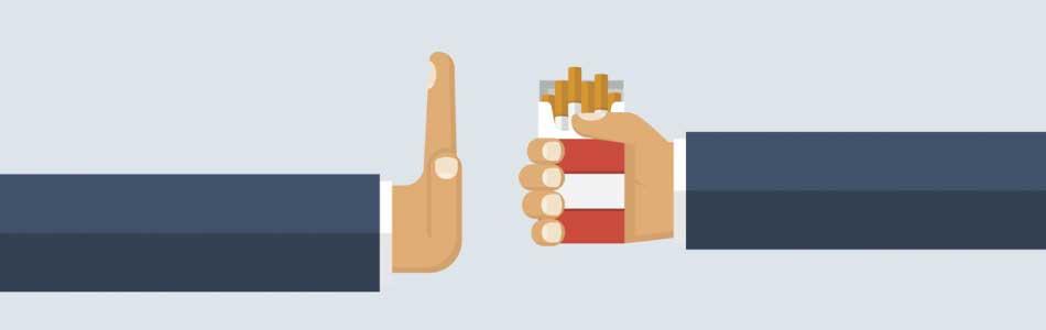 rejecting cigarettes