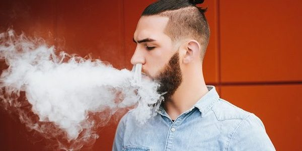 man vaping
