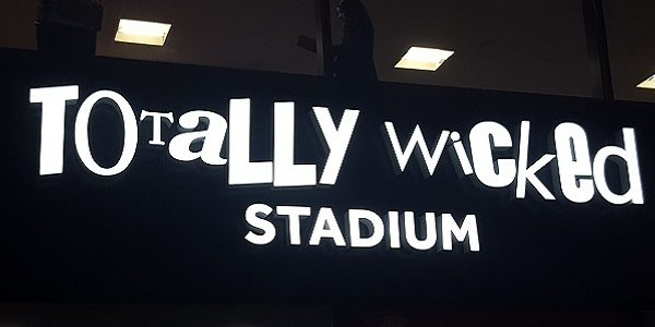 Totally Wicked stadium sign