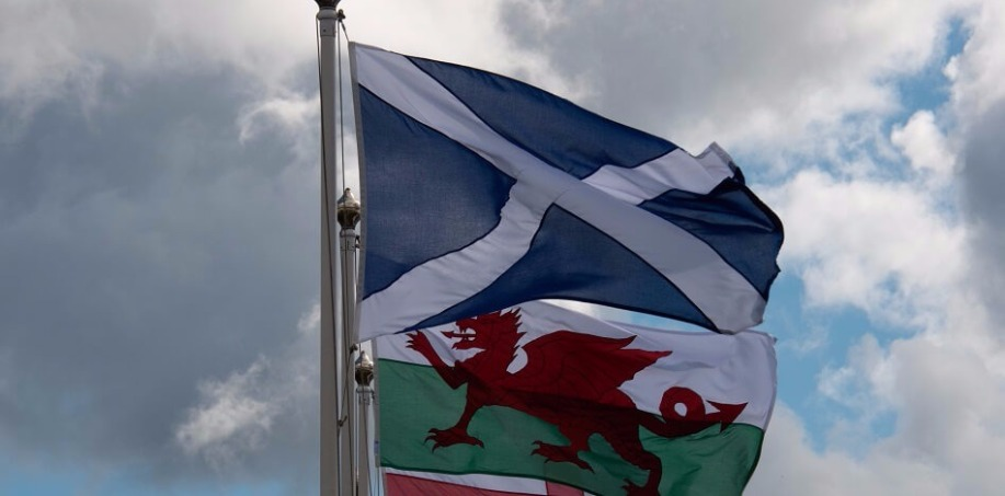Scotland and Wales Flags