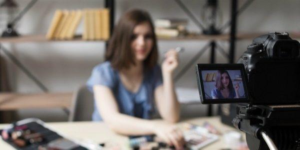 Vlogger and camera